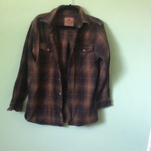 Pacific trail brown flannel NWOT